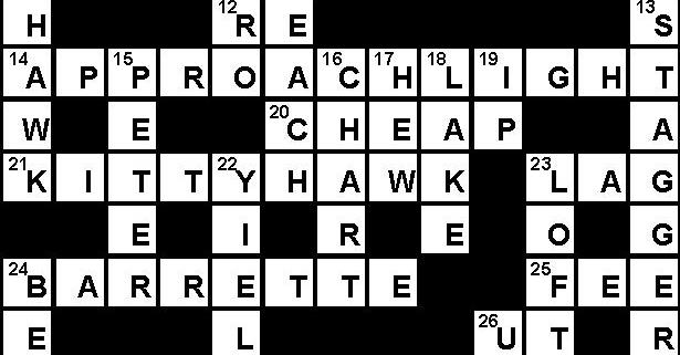 June 2018 Crossword Key