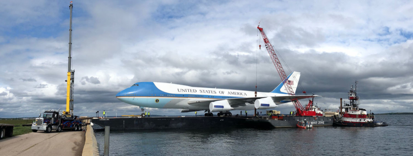 Air Force One On A Barge And D.C. Is Abuzz!