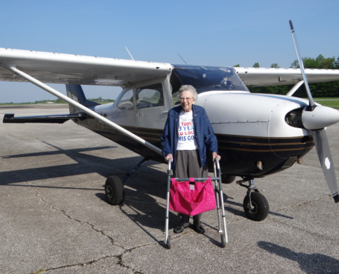 105-Year-Old Woman Celebrates Birthday With First Flying Lesson
