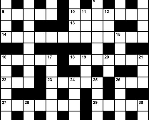 November 2019 Crossword Key